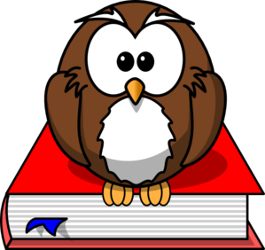 Smart clipart. Owl clip art at