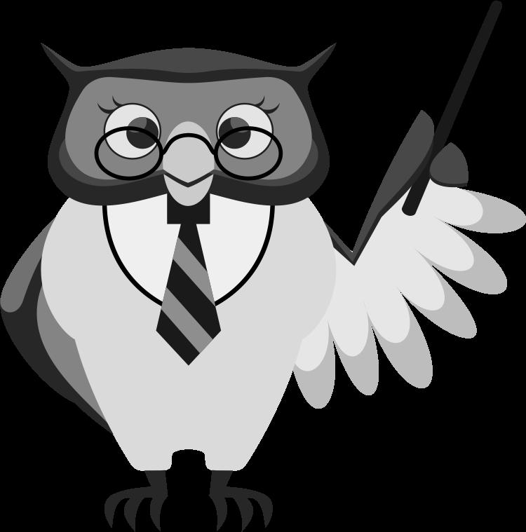 Smart clipart smart owl. Clipartblack com animal free