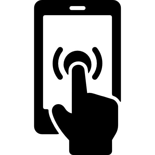 Phone with hand free. Smartphone icon png