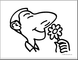 Smell clipart. Clip art basic words