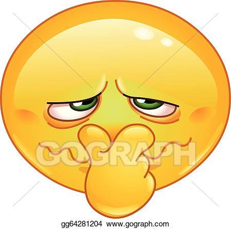 Smell clipart bad face. Vector illustration emoticon stock