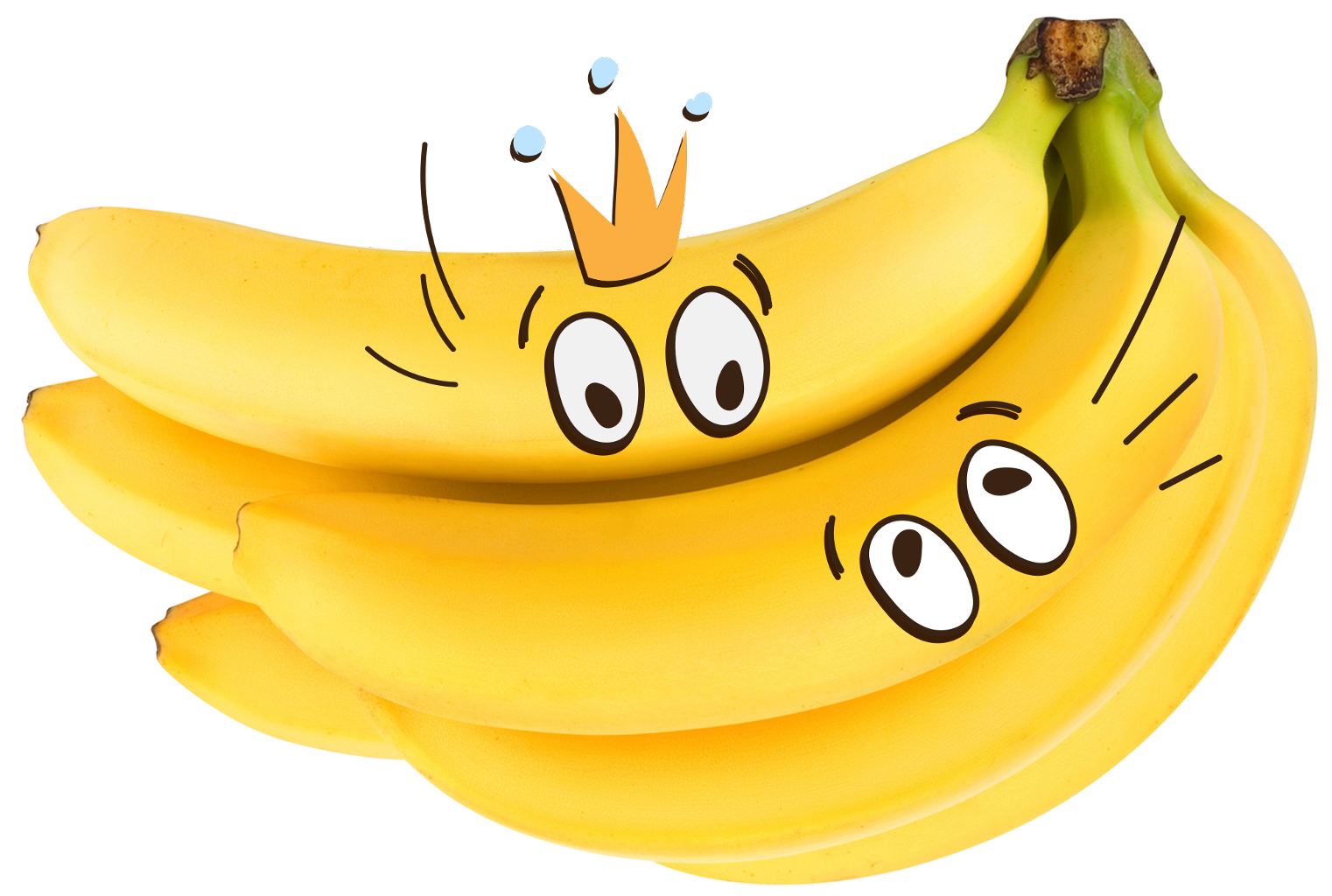 Banana smiley. Clipart transparent free for