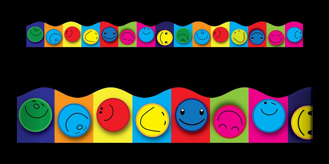 Face group. Smiley clipart border