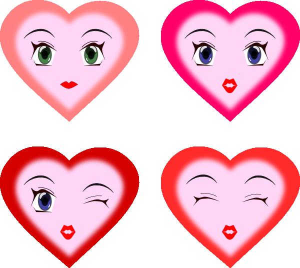 Faces clipart heart. Clip art at clker