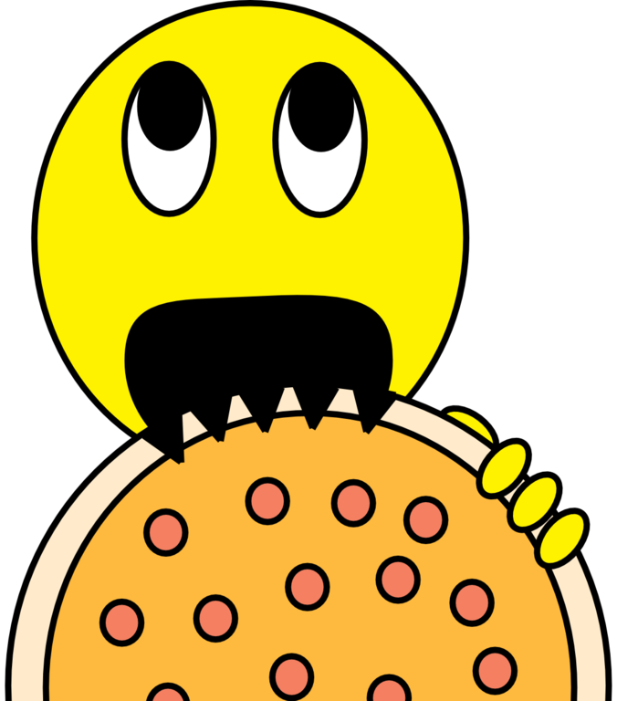 Smiley clipart homework. File pizza thrusted into