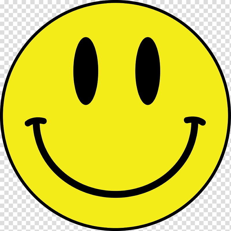 Smiley clipart icon. Transparent background png