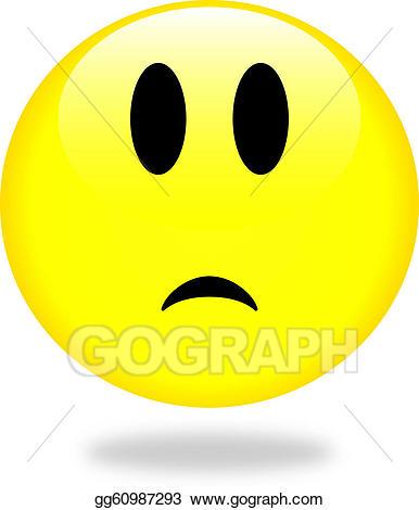 Smiley clipart icon. Stock illustration sad gg