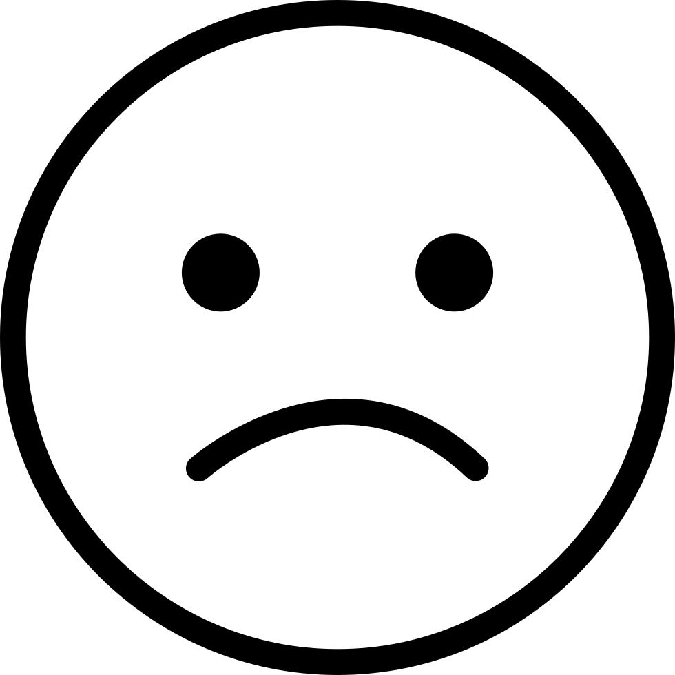Computer icons emoticon black. Smiley clipart sad