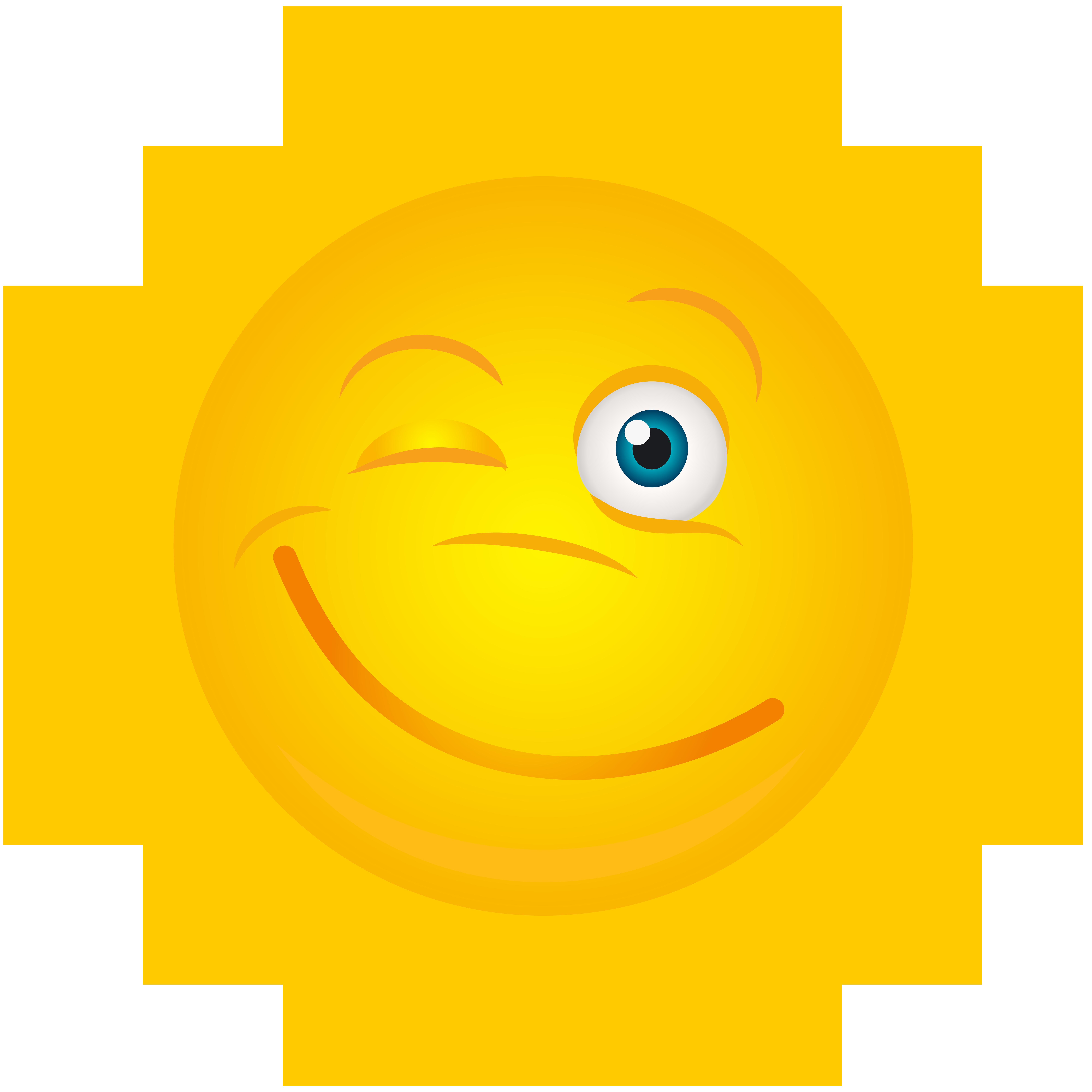 Sun transparent clip art. Smiley clipart winking