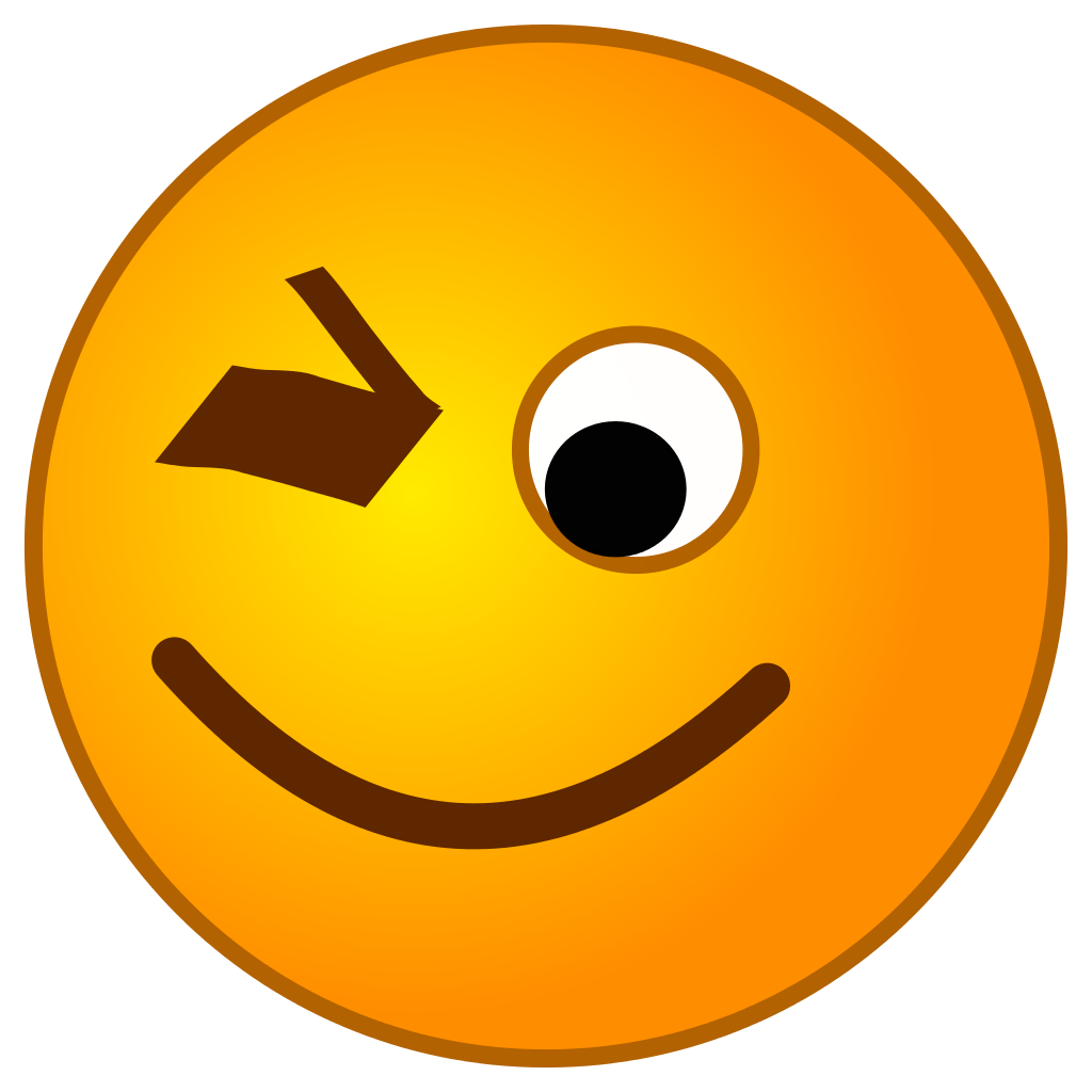 Smiley clipart winking. File smirc wink svg