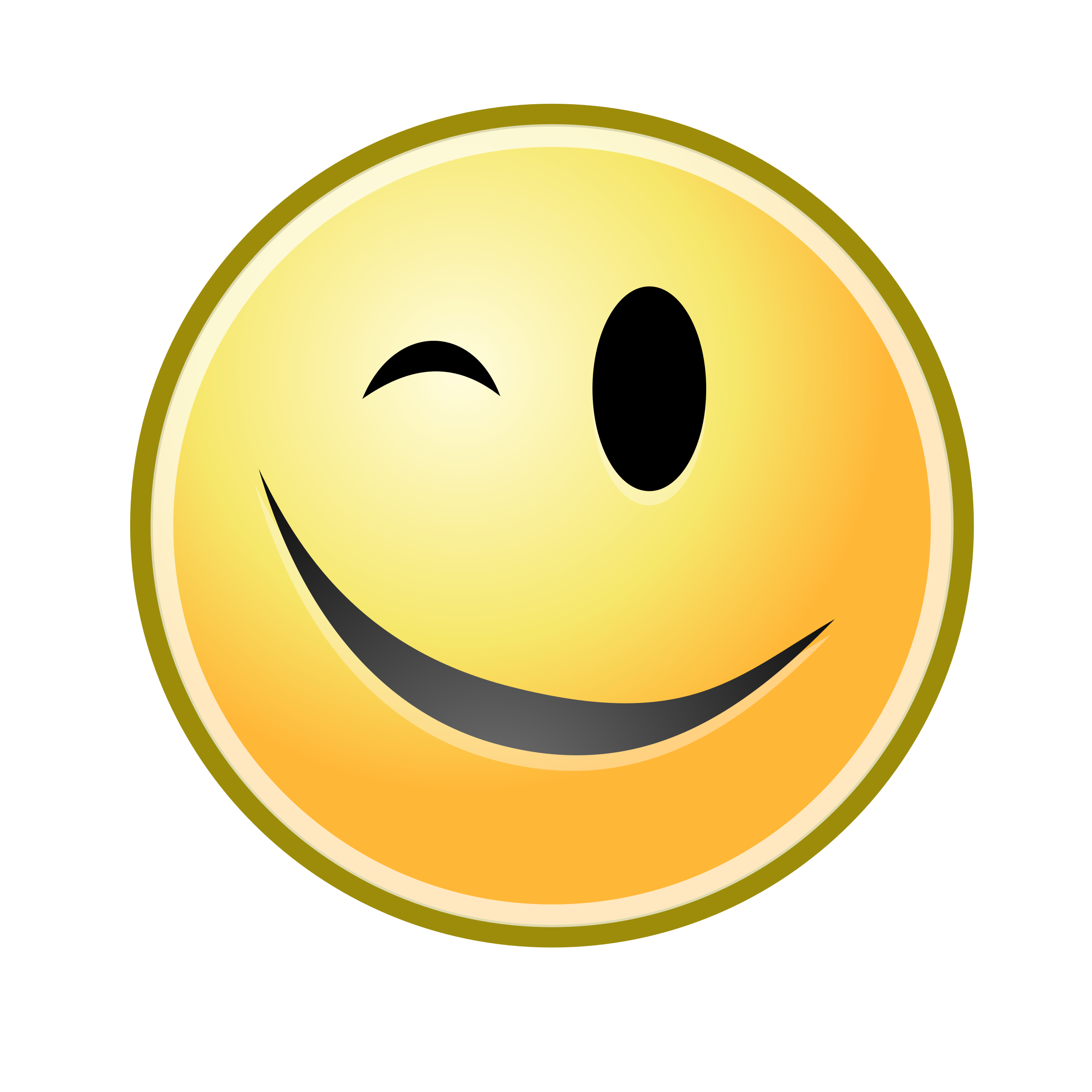 Smiley clipart winking. Wink yellow big image