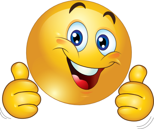 Smiley face clip art. Emotions thumbs up smileyface