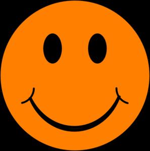 Graphic free orange smile. Smiley face clip art