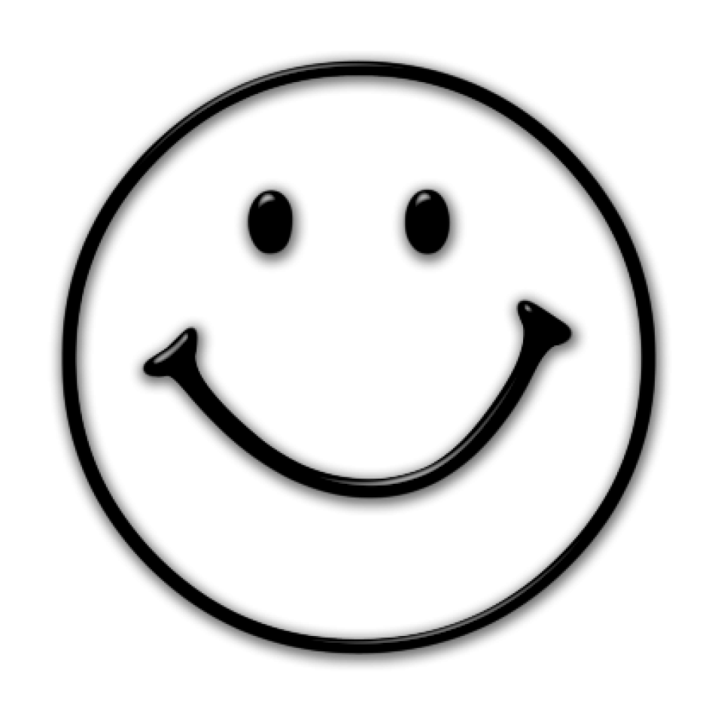 Smiley face clip art basic. Black and white moon