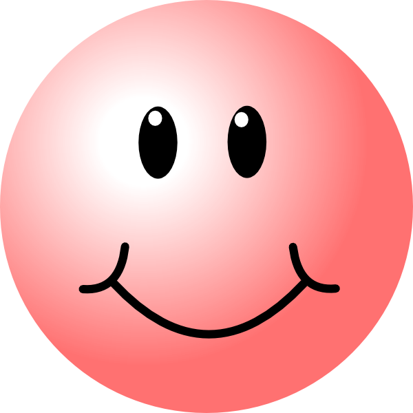 Smiley face clip art basic. Happy faces pink vector