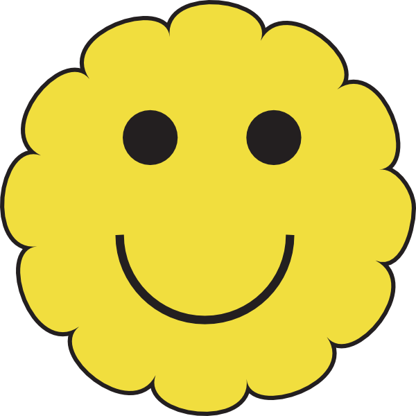 Sunny at clker com. Smiley face clip art basic