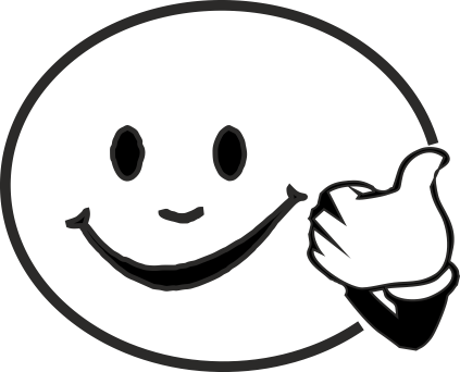 Thumbs up clipart clipartuse. Smiley face clip art black and white