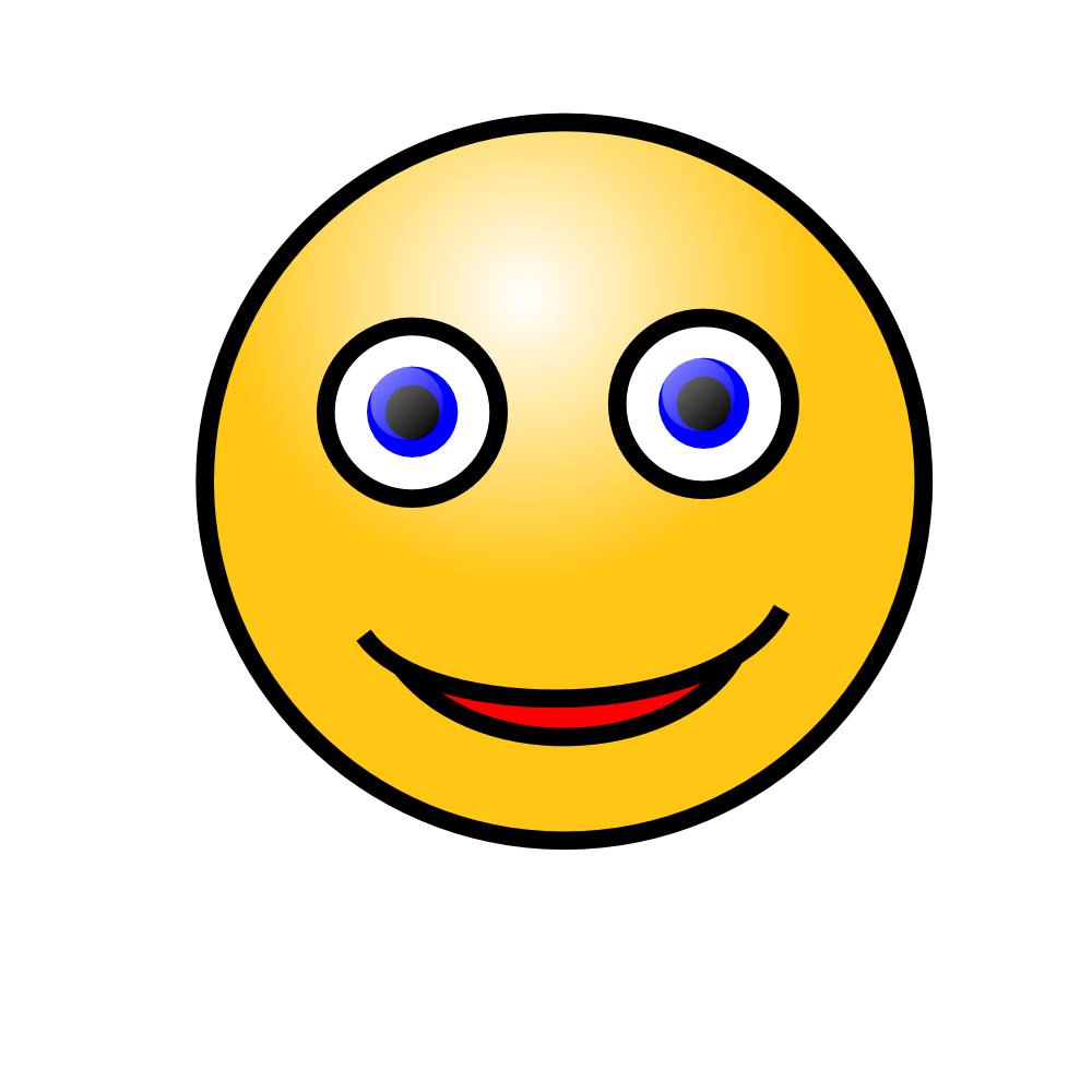 Smiley face clip art emoticon. Onlinelabels emoticons smiling