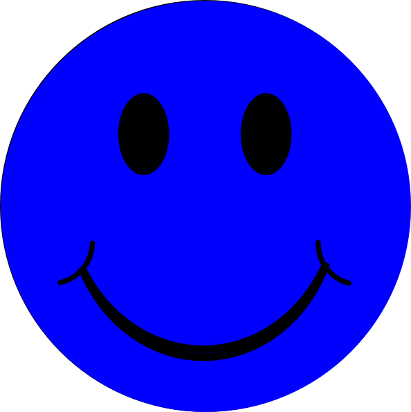Smiley face clip art emoticon. Blue at clker com