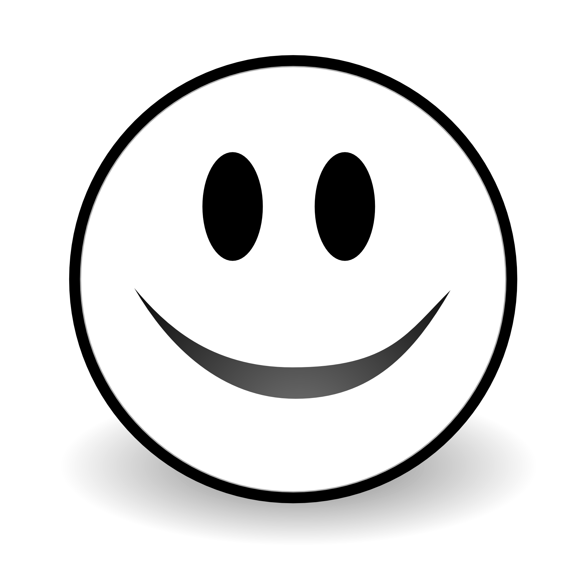 Smiley face clip art emoticon. Happy smile clipart free