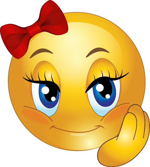 Cute girl faces pretty. Smiley face clip art emoticon