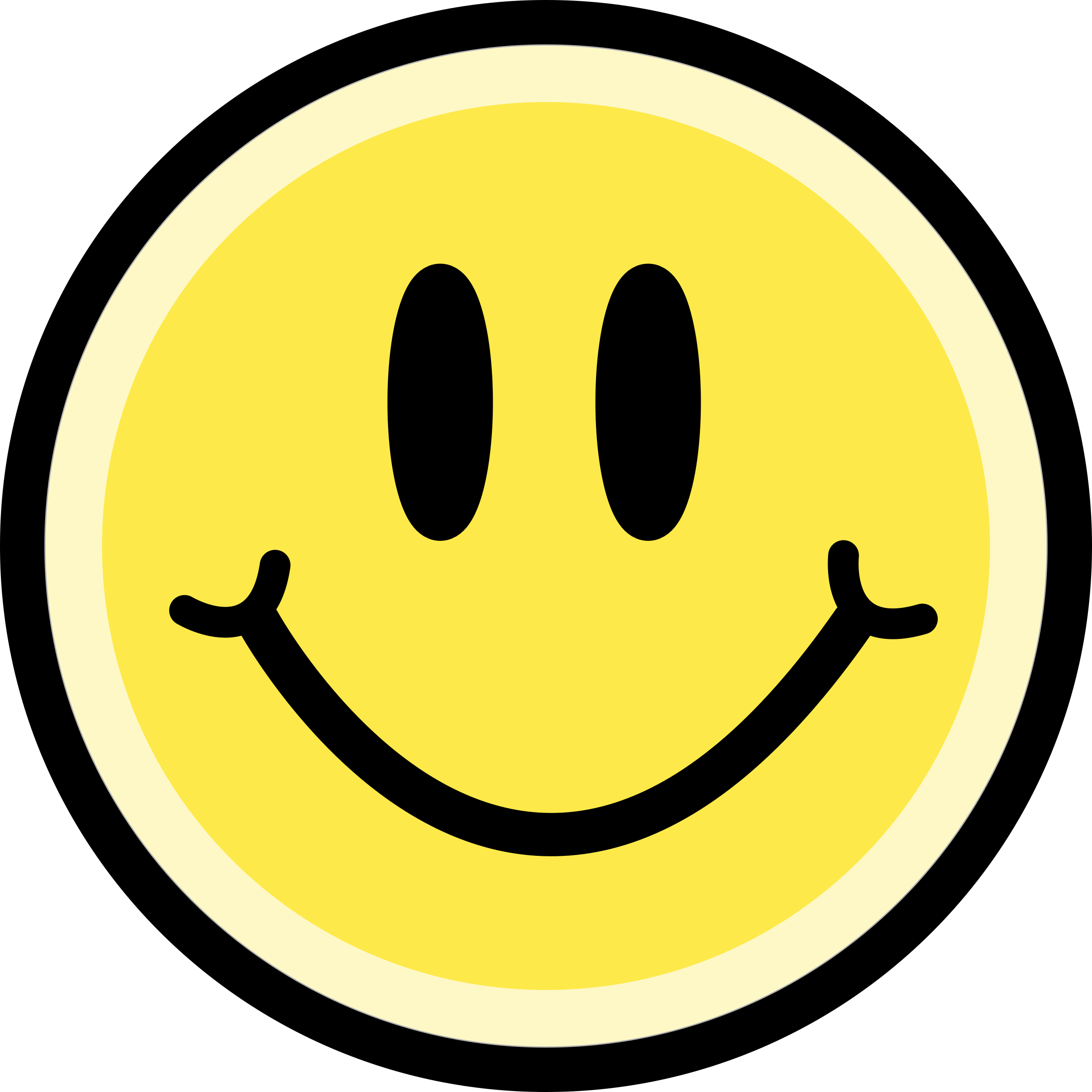 Clipart yellow big image. Smiley face clip art emoticon