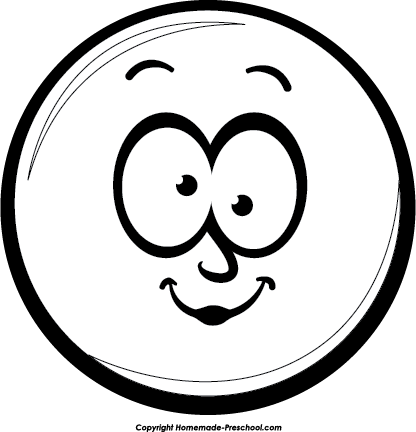 Black and white arts. Smiley face clip art emotion