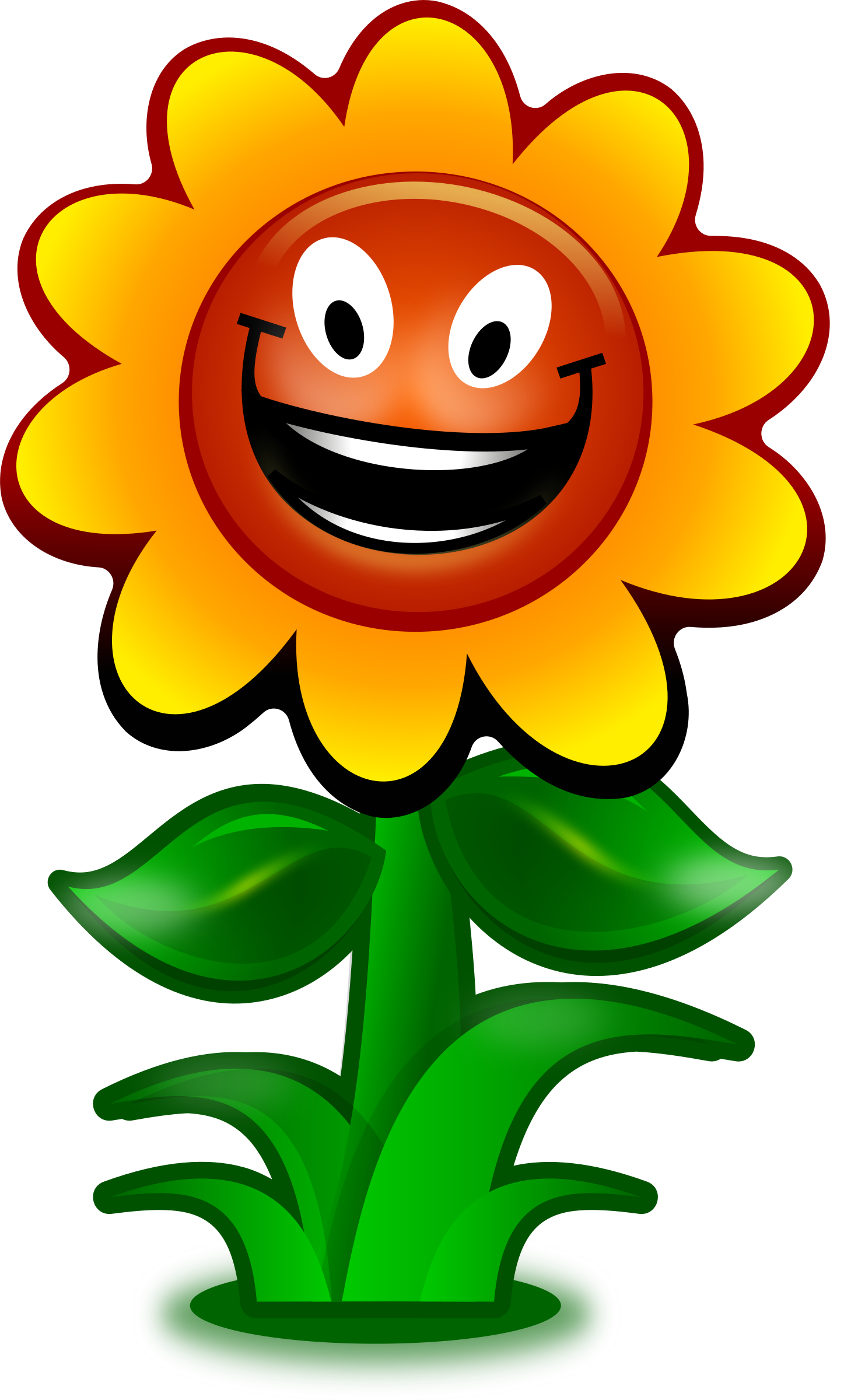 Clipart cartoon game character. Smiley face clip art flower
