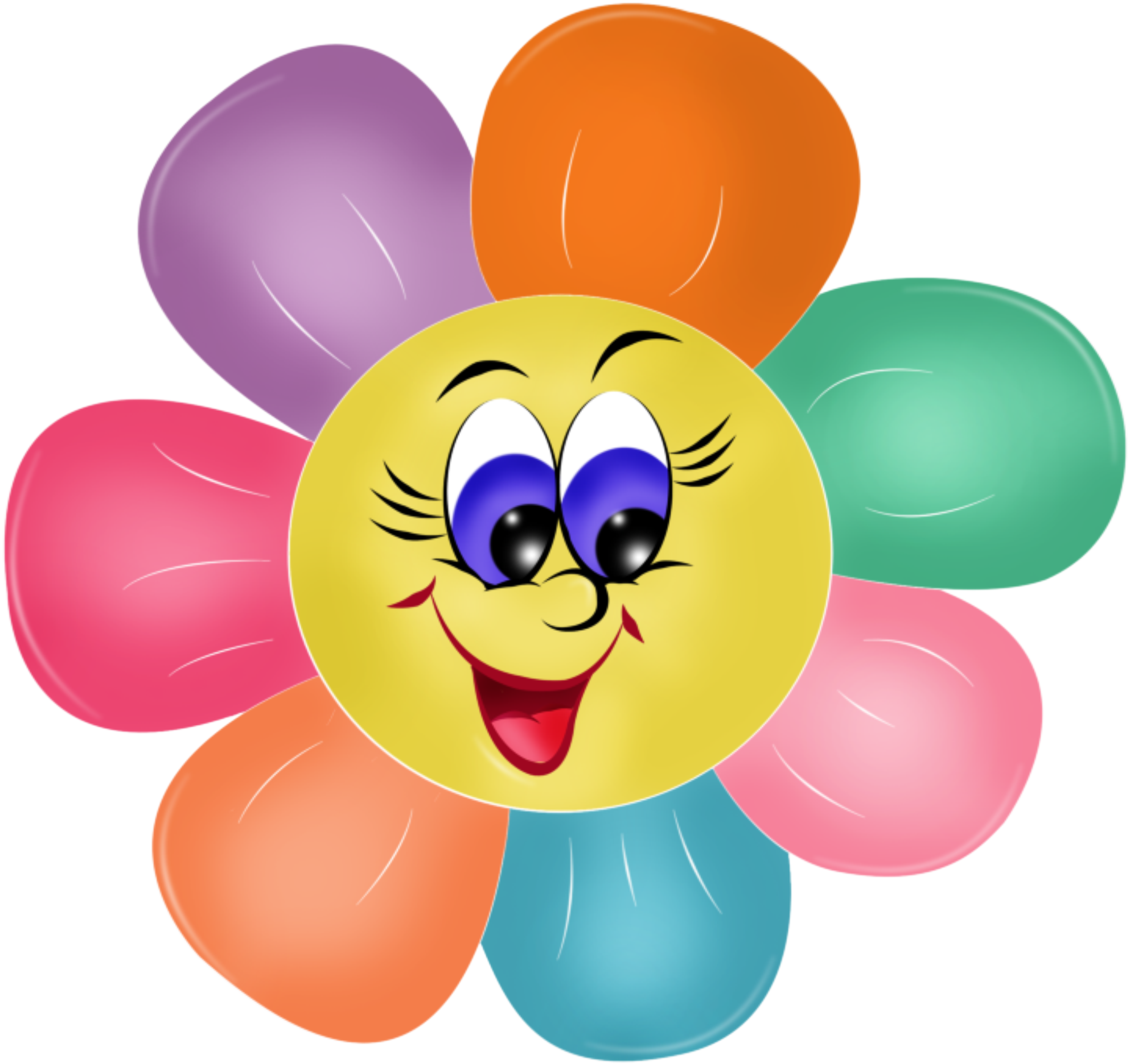 Smiley face clip art flower. Azbuka png klipart pinterest