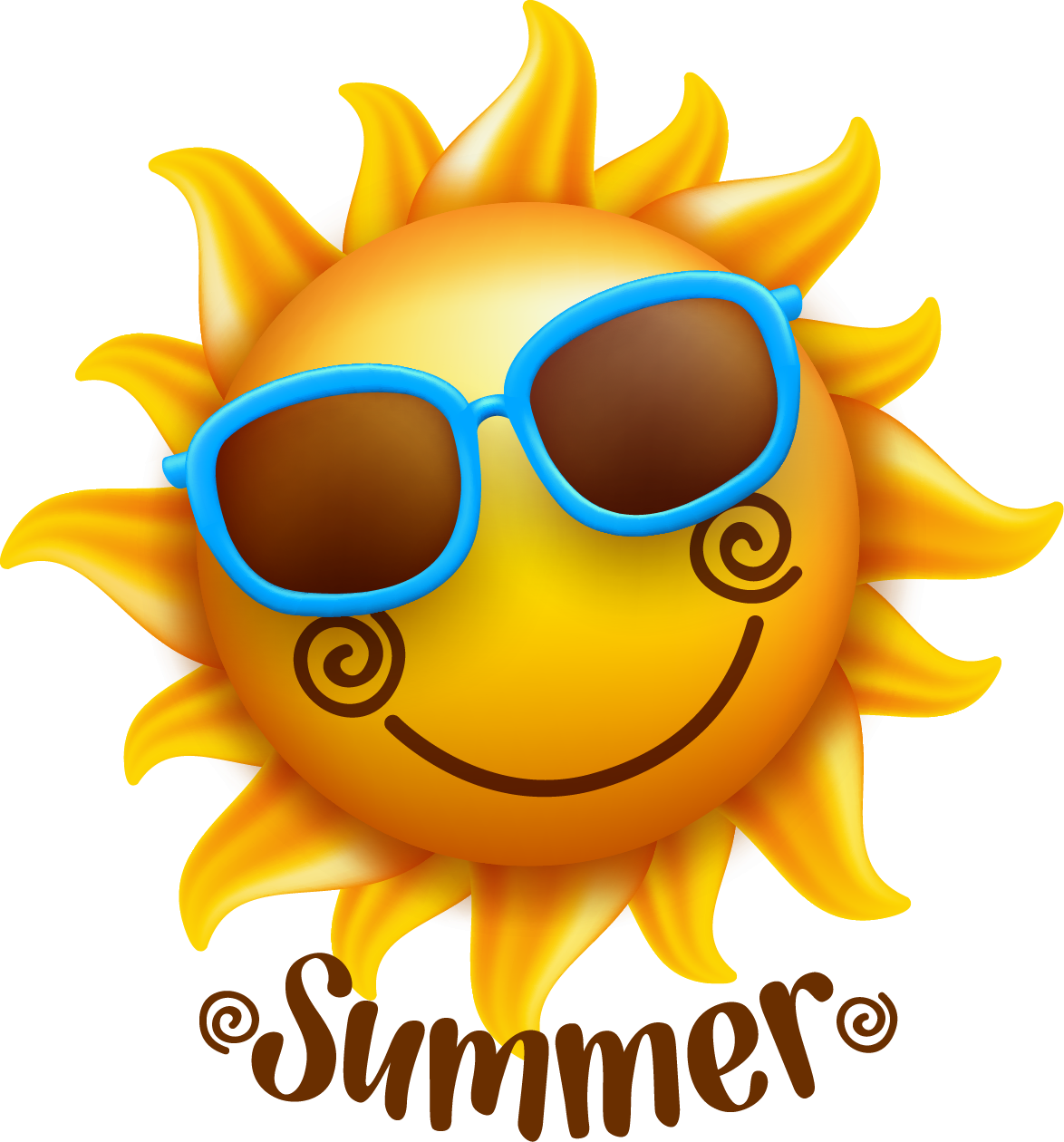 Illustration summer sun transprent. Smiley face clip art flower