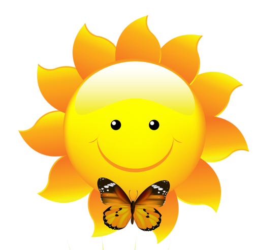 Smiley face clip art flower.  smileys and emojis