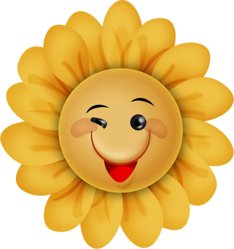 Smiley face clip art flower. Summerfun views album smileys