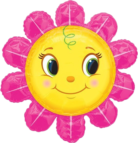 sunflower balloon instaballoons. Smiley face clip art flower