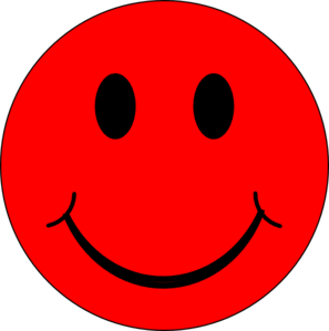 Red at clker com. Smiley face clip art happy