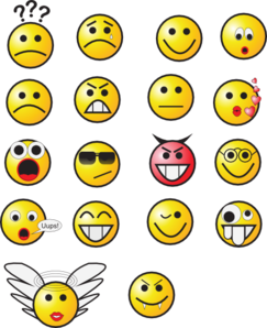 Emotions clipart panda free. Smiley face clip art happy