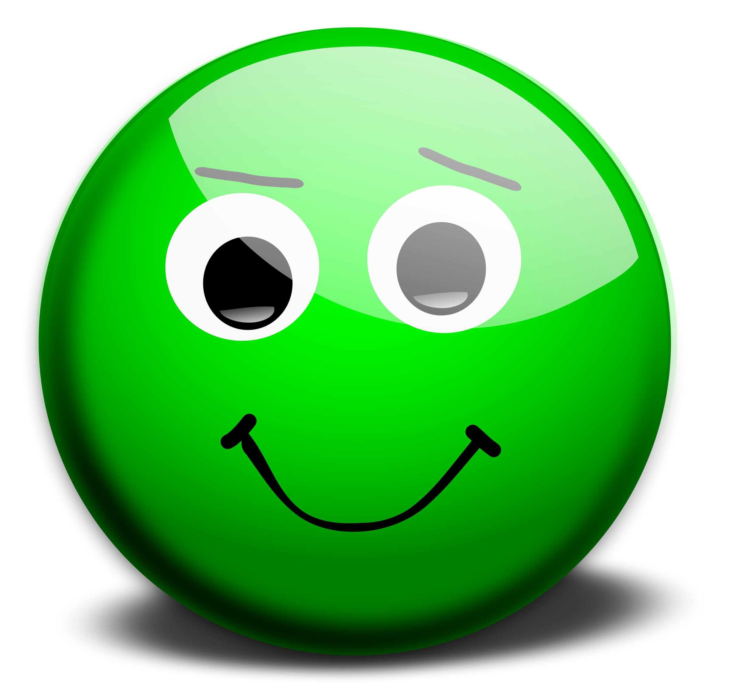Green smiley clipartxtras. Excited clipart yellow happy face