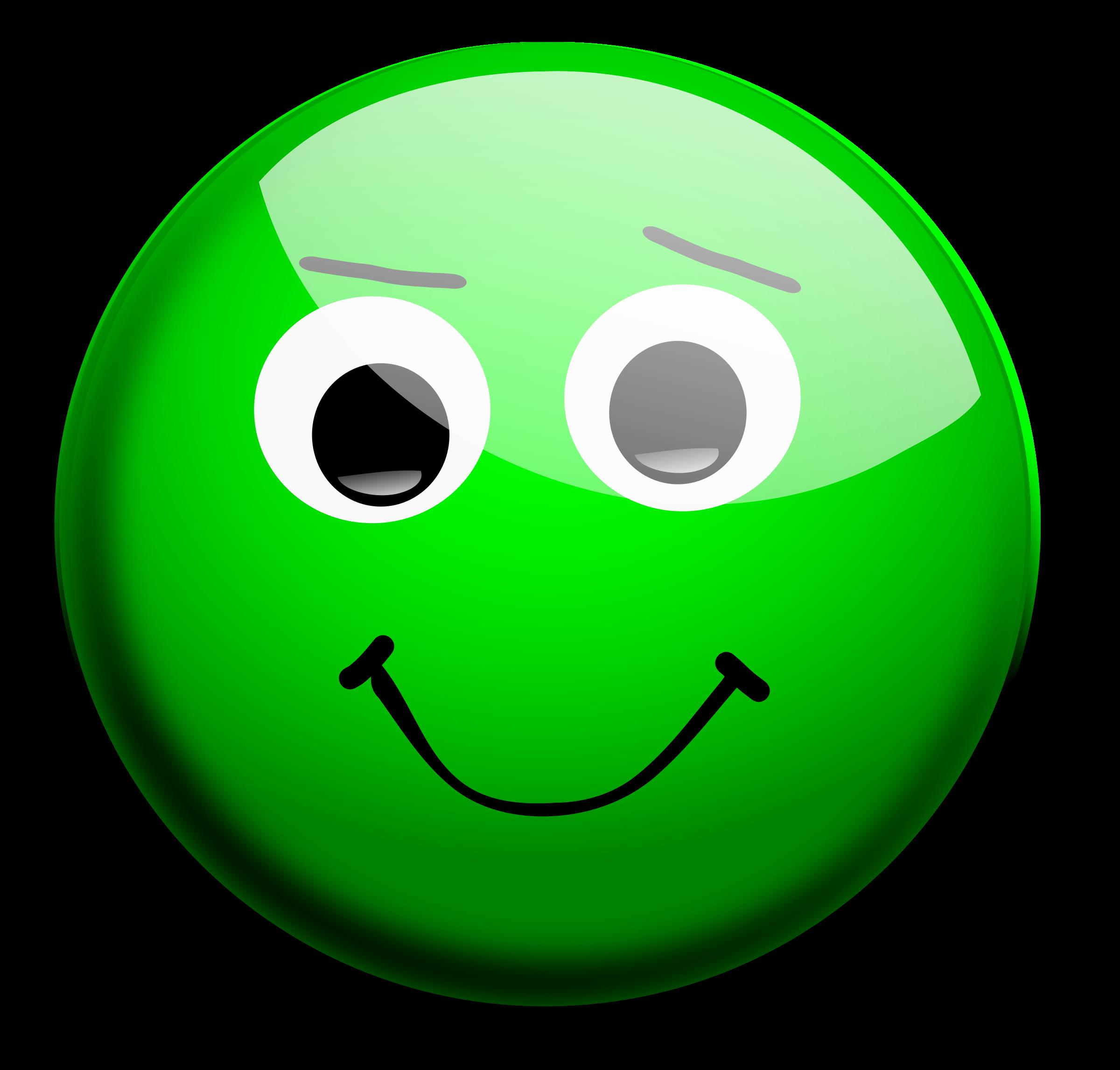 Green clipart clipartxtras. Smiley face clip art happy