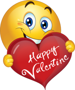 Emoticon happy png valentine. Smiley face clip art heart