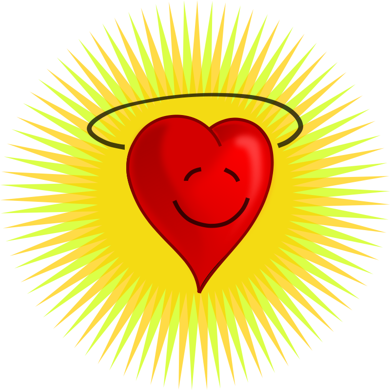 Smiley face clip art heart. Free stock photo illustration