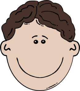 Boy cartoon at clker. Smiley face clip art human face
