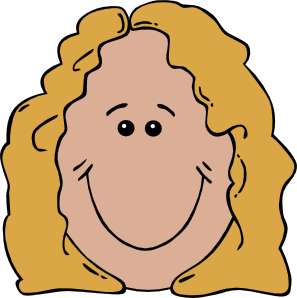 Smiley face clip art human face. Lady at clker com