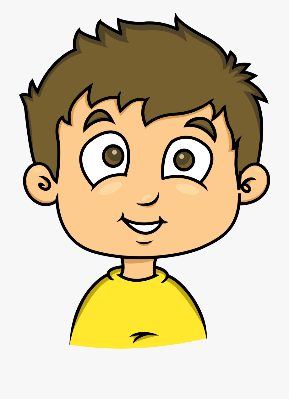 Boy clipart animated. Of human face and