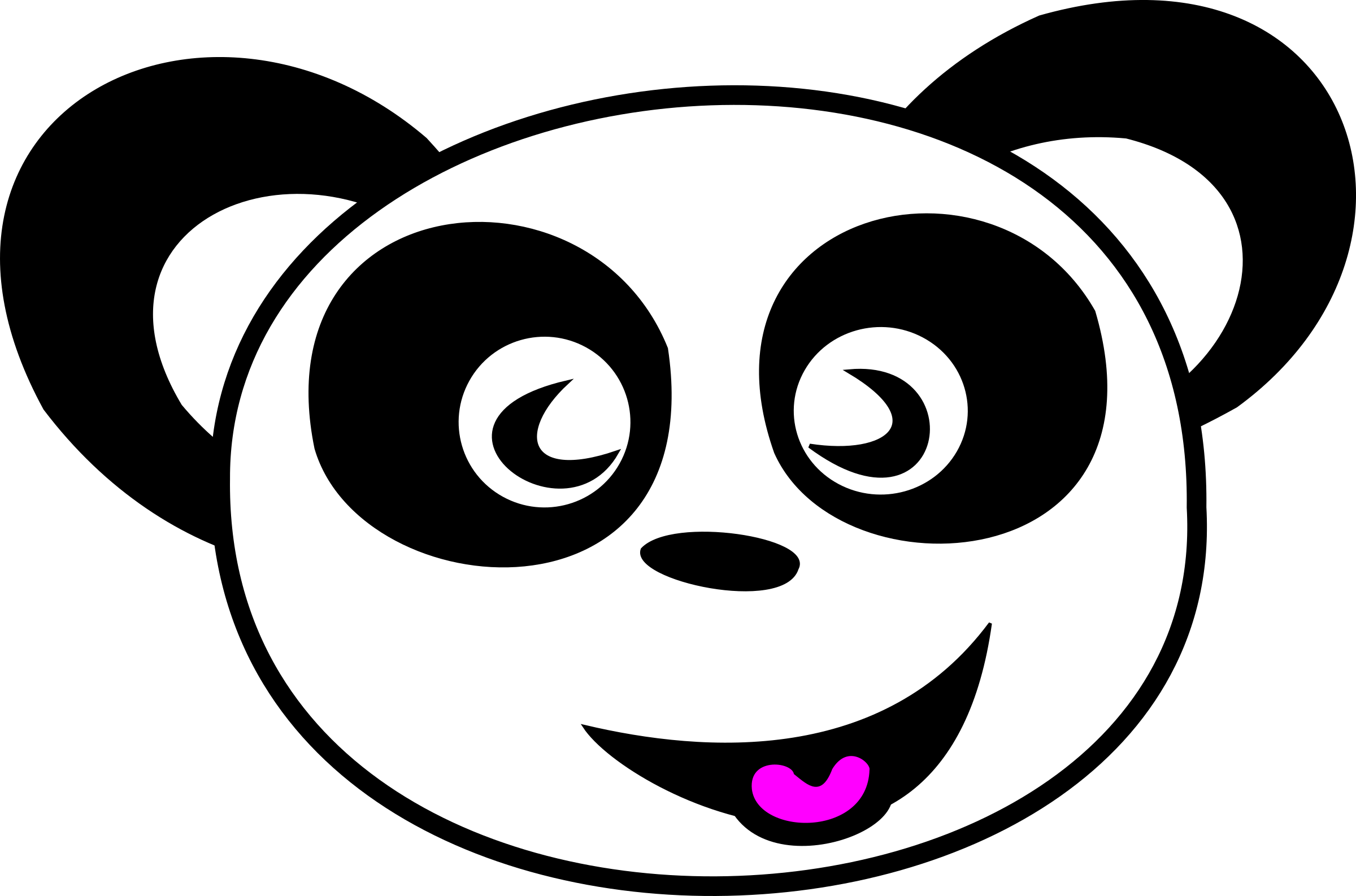 Smiley face clip art outline. Clipart happy panda big