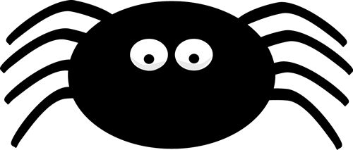 Spider smiley face free. Black clipart
