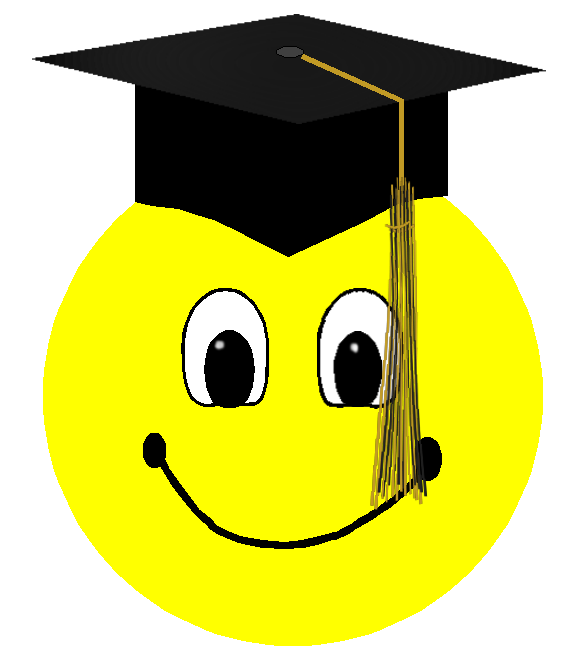 Smiley face clip art professional. Graduation clipart
