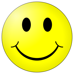 Positive and negative thinking. Smiley face clip art professional