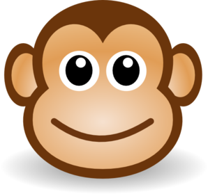 Smiley face clip art simple. Happy monkey at clker