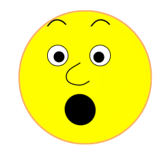 Clipart surprised . Smiley face clip art simple