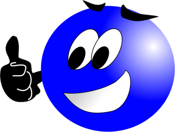 Smiley face clip art simple. Thumbs up clipart panda