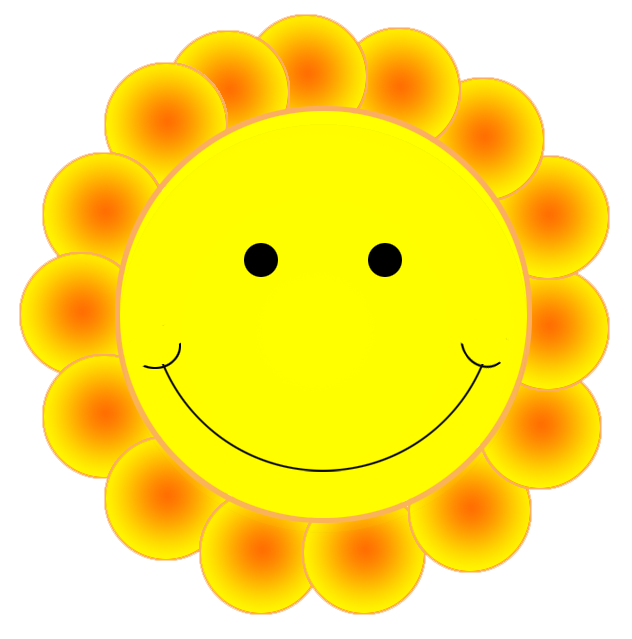 Emotions png cute flower. Smiley face clip art simple